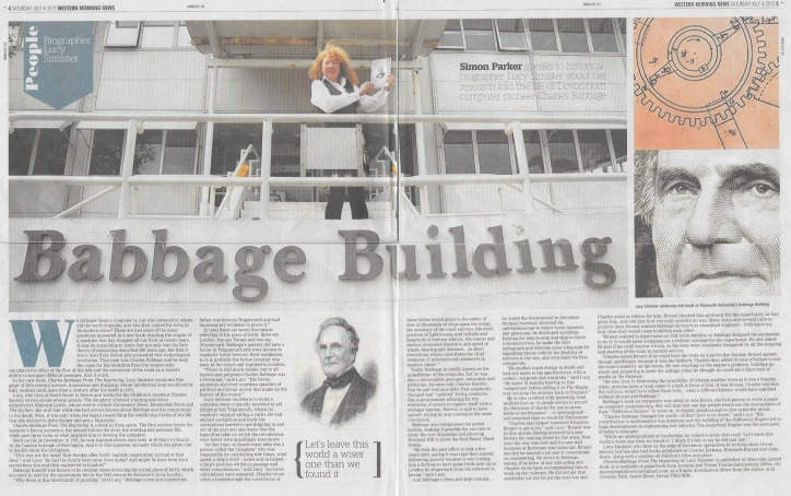 Lucy at the Charles Babbage Building, Plymouth University